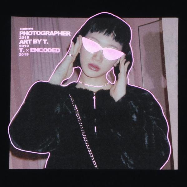 【即納】エンコーデッド T. x ENCODED メンズ Tシャツ トップス T.lady TEE black|fermart|04