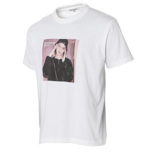 【即納】エンコーデッド T. x ENCODED メンズ Tシャツ トップス T.lady TEE white|fermart