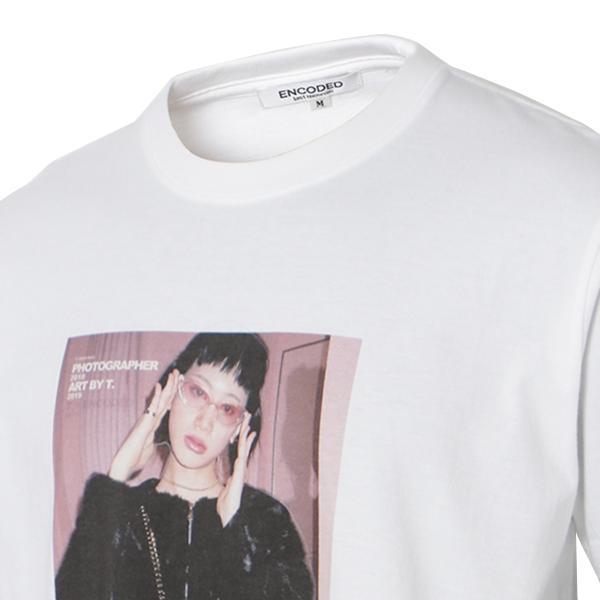 【即納】エンコーデッド T. x ENCODED メンズ Tシャツ トップス T.lady TEE white|fermart|05