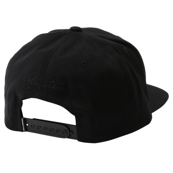 【即納】プリミティブ Primitive ユニセックス キャップ 帽子 CORE CLASSIC P SNAPBACK BLACK ロゴ スナップバック スナップキャップ fermart 02