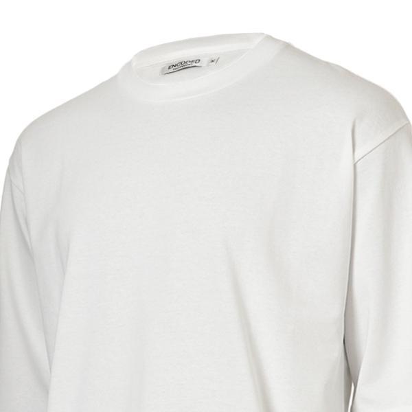 【即納】エンコーデッド ENCODED メンズ 長袖Tシャツ トップス ロンT ロングT ロングスリーブ Oversized half-sleeve T-shirt White fermart 04