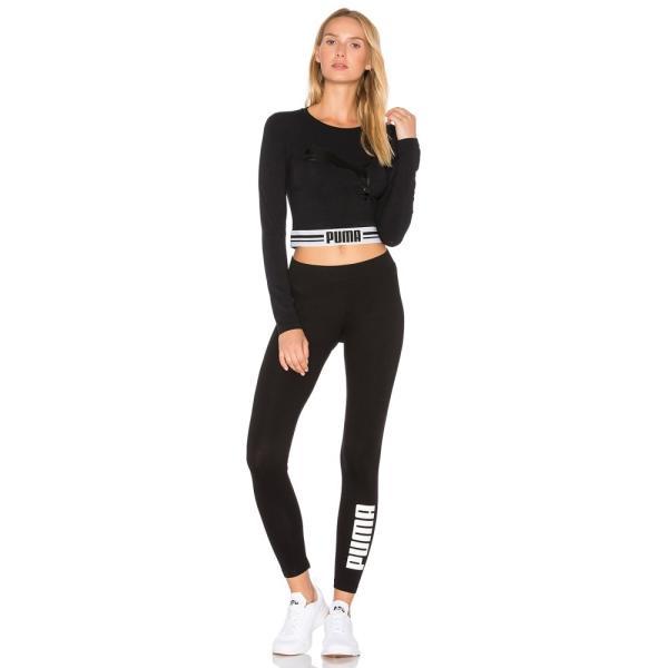 【即納】プーマ Puma レディース スパッツ・レギンス インナー・下着 Archive Logo T7 Legging Puma Cotton Black|fermart|04