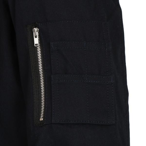 【即納】エイソス ASOS メンズ ジャケット アウター Bomber Jacket With Sleeve Zip Navy fermart 04