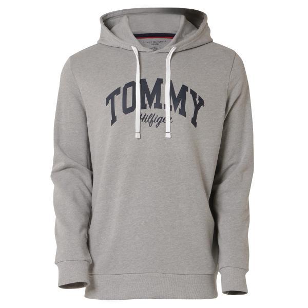 【即納】トミー ヒルフィガー Tommy Hilfiger メンズ パーカー トップス HOODIE GRAYHEATHER プルオーバー フーディー フード 裏起毛|fermart