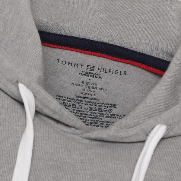 【即納】トミー ヒルフィガー Tommy Hilfiger メンズ パーカー トップス HOODIE GRAYHEATHER プルオーバー フーディー フード 裏起毛|fermart|04
