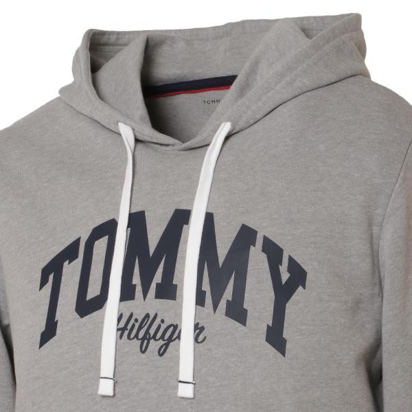 【即納】トミー ヒルフィガー Tommy Hilfiger メンズ パーカー トップス HOODIE GRAYHEATHER プルオーバー フーディー フード 裏起毛|fermart|05