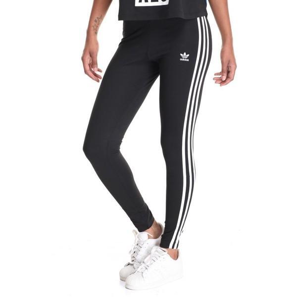 【即納】アディダス レディース スパッツ・レギンス インナー・下着 3-stripes leggings Black|fermart
