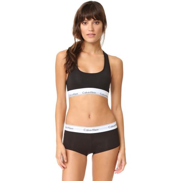 【即納】カルバンクライン Calvin Klein Underwear レディース ショーツのみ インナー・下着 Modern Cotton Boy Shorts Black|fermart|04