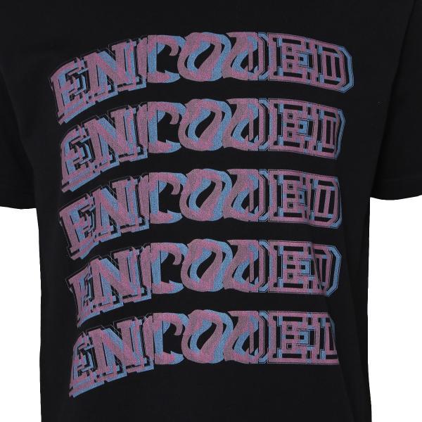 【即納】エンコーデッド T. x ENCODED メンズ Tシャツ トップス FAKE 3D TEE black|fermart|03