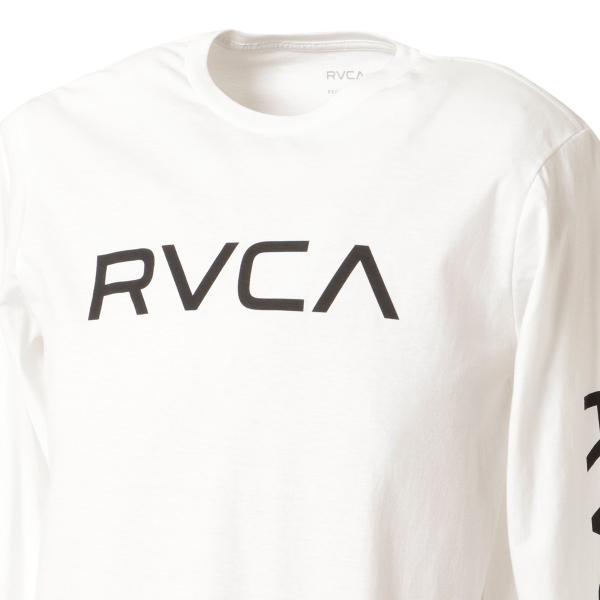【即納】ルーカ RVCA メンズ 長袖Tシャツ トップス Big Rvca L/S WHITE ロンT ロングT 袖プリント ビッグロゴ|fermart|06
