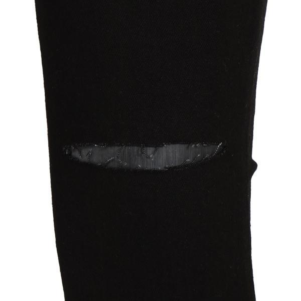 【即納】エイソス ASOS メンズ ジーンズ・デニム ボトムス・パンツ Super Skinny Jeans With Knee Rips Black|fermart|05