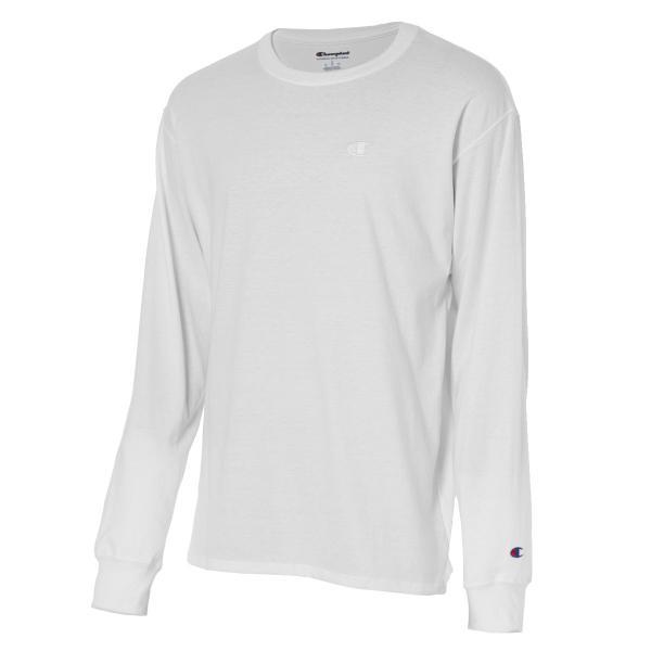 【即納】チャンピオン Champion メンズ 長袖Tシャツ トップス ロンT ロングT ロングスリーブ Classic Jersey LS Tee  WHITE fermart