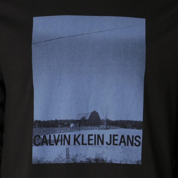 【即納】カルバンクライン Calvin Klein メンズ 長袖Tシャツ トップス BARN PRINT LS TEE BLACK ロンT ロングT ロングスリーブ fermart 03