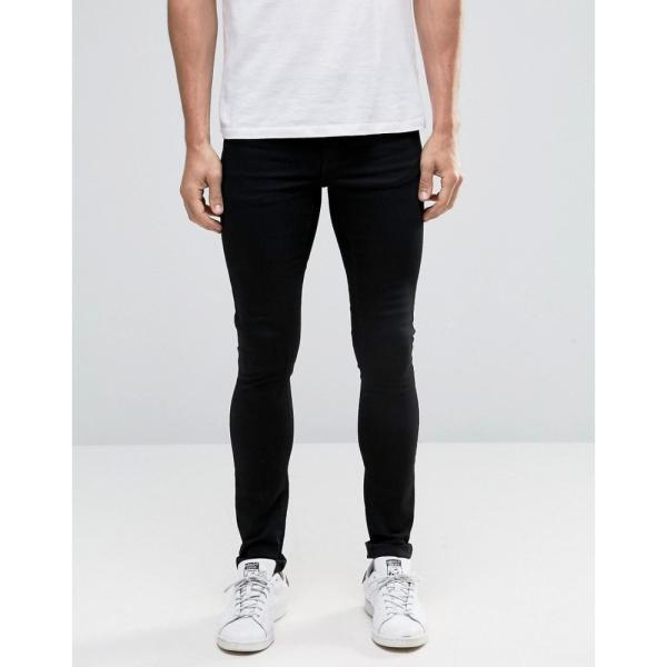 【即納】エイソス ASOS メンズ ジーンズ・デニム ボトムス・パンツ Extreme Super Skinny Jeans Black|fermart|07