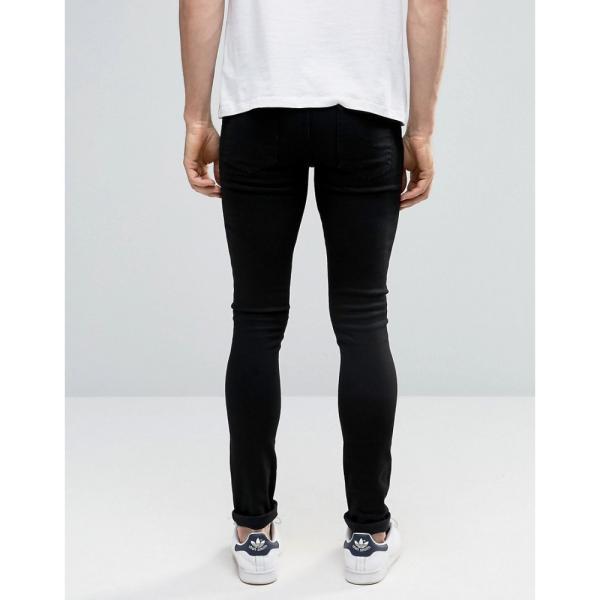 【即納】エイソス ASOS メンズ ジーンズ・デニム ボトムス・パンツ Extreme Super Skinny Jeans Black|fermart|08