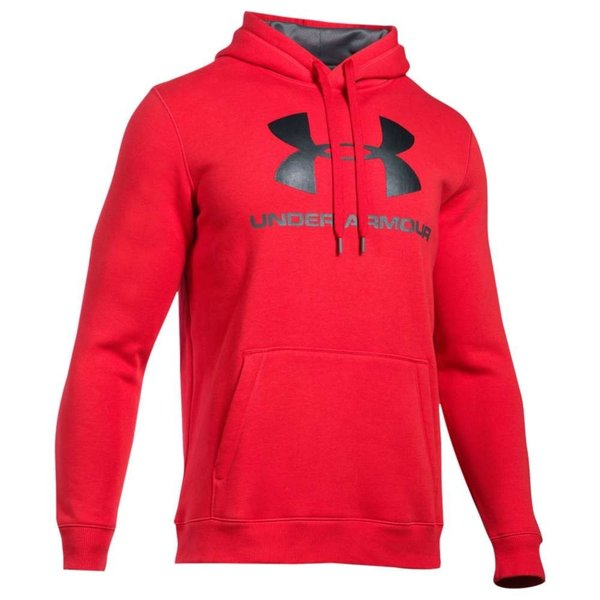 【即納】アンダーアーマー Under Armour メンズ パーカー トップス Rival Fitted Graphic Hoodie Red/Graphite/Black|fermart