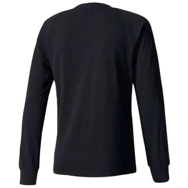 【即納】アディダス adidas Originals メンズ 長袖Tシャツ トップス 3-Stripes Pique L/S T-Shirt Black|fermart|02