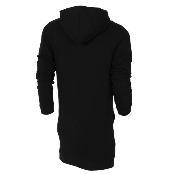 【即納】エイソス ASOS メンズ スウェット・トレーナー トップス Super Longline Hoodie Black Black|fermart|02