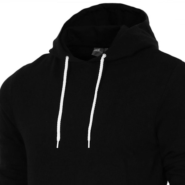 【即納】エイソス ASOS メンズ スウェット・トレーナー トップス Super Longline Hoodie Black Black|fermart|03