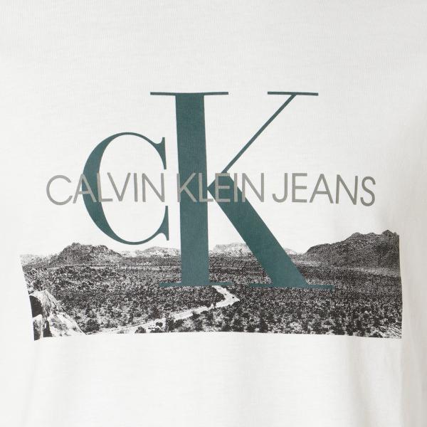 【即納】カルバンクライン Calvin Klein メンズ 長袖Tシャツ トップス LANDSCAPE PRINT LS TEE WHITE ロンT ロングT ロングスリーブ|fermart|03