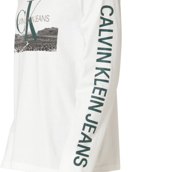 【即納】カルバンクライン Calvin Klein メンズ 長袖Tシャツ トップス LANDSCAPE PRINT LS TEE WHITE ロンT ロングT ロングスリーブ|fermart|05