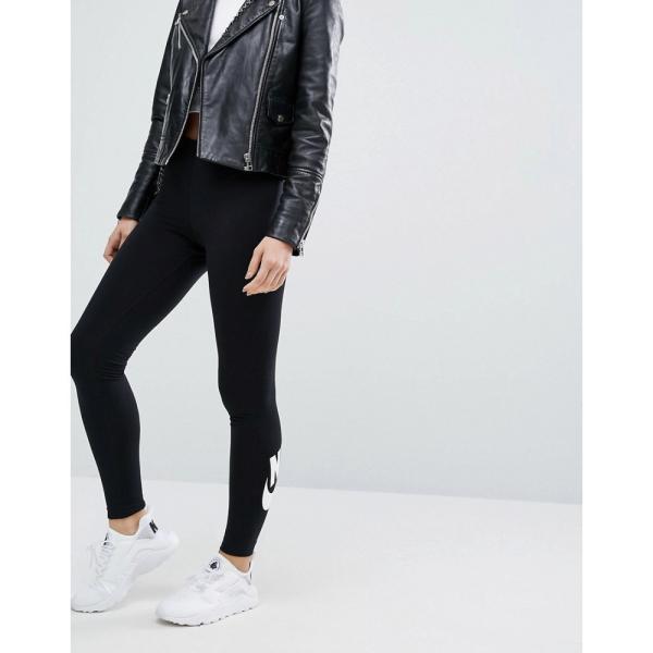 【即納】ナイキ Nike レディース スパッツ・レギンス インナー・下着 Leg A See Leggings In Black With Futura Logo Black/ white Black/ white|fermart|07