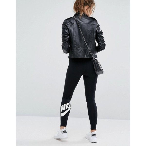 【即納】ナイキ Nike レディース スパッツ・レギンス インナー・下着 Leg A See Leggings In Black With Futura Logo Black/ white Black/ white|fermart|08