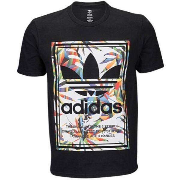 【即納】アディダス adidas Originals メンズ Tシャツ トップス Graphic T-Shirt Black/Multi|fermart