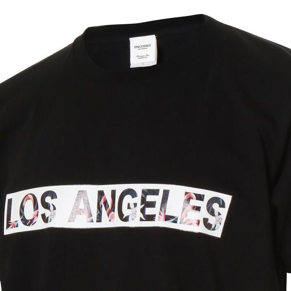 【即納】エンコーデッド ENCODED メンズ Tシャツ トップス LOS ANGELES T-Shirt Black fermart 04