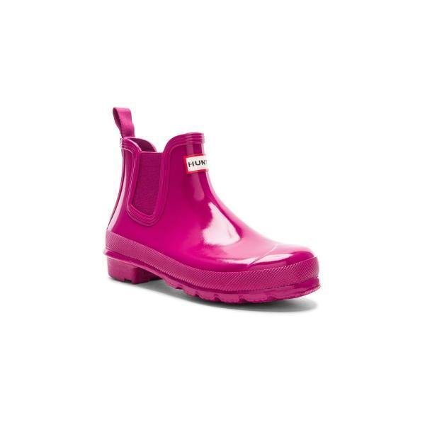 【即納】ハンター Hunter レディース レインシューズ・長靴 シューズ・靴 Original Chelsea Gloss One Tab Boot Hunter Dark Ion Pink|fermart|02