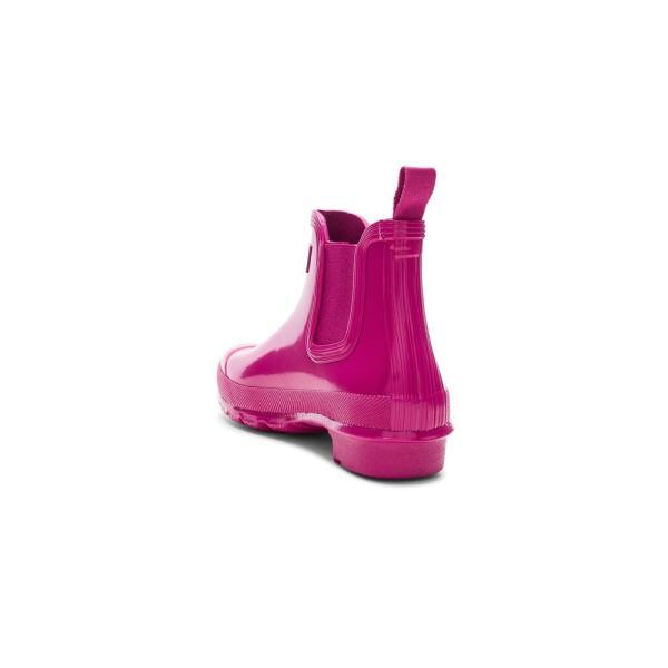 【即納】ハンター Hunter レディース レインシューズ・長靴 シューズ・靴 Original Chelsea Gloss One Tab Boot Hunter Dark Ion Pink|fermart|03