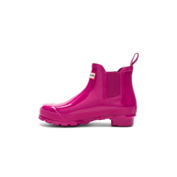 【即納】ハンター Hunter レディース レインシューズ・長靴 シューズ・靴 Original Chelsea Gloss One Tab Boot Hunter Dark Ion Pink|fermart|05