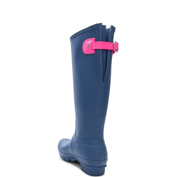 【即納】ハンター Hunter レディース レインシューズ・長靴 シューズ・靴 Original Back Adjustable Boot Hunter Dark Earth Blue & Ion Pink|fermart|03