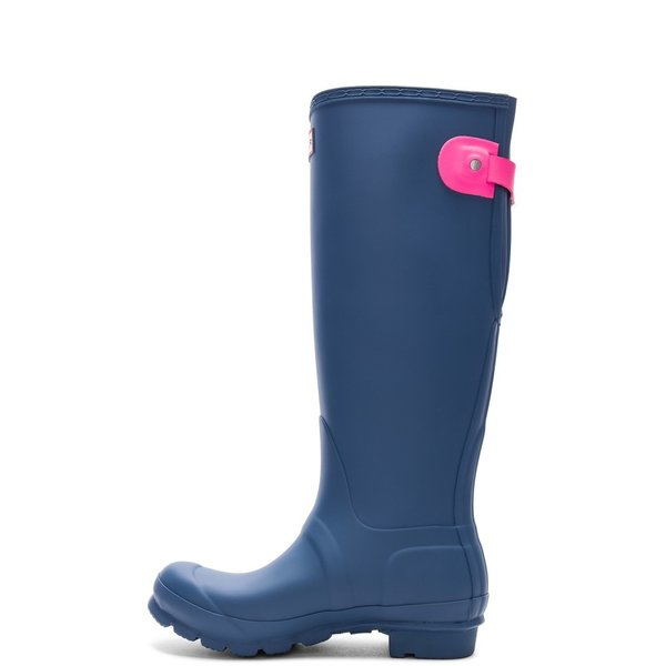 【即納】ハンター Hunter レディース レインシューズ・長靴 シューズ・靴 Original Back Adjustable Boot Hunter Dark Earth Blue & Ion Pink|fermart|05