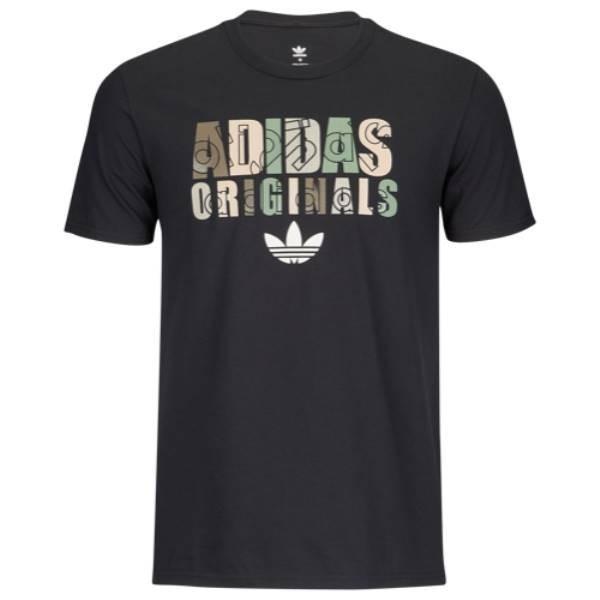 【即納】アディダス adidas Originals メンズ Tシャツ トップス Graphic T-Shirt Black/Camo|fermart