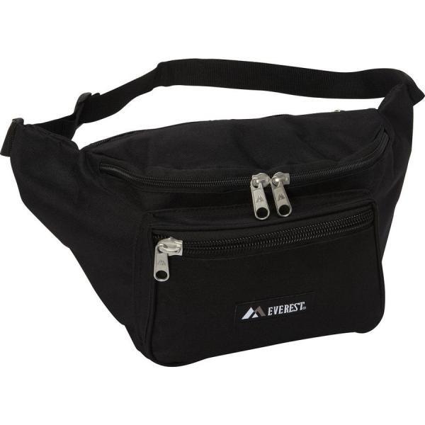 【即納】エベレスト デザインズ Everest ユニセックス ボディバッグ・ウエストポーチ バッグ Signature Waist Pack - Medium Black|fermart