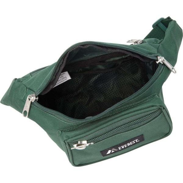 【即納】エベレスト デザインズ Everest ユニセックス ボディバッグ・ウエストポーチ バッグ Signature Waist Pack - Medium Black|fermart|02