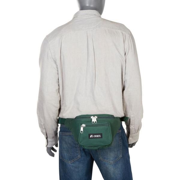 【即納】エベレスト デザインズ Everest ユニセックス ボディバッグ・ウエストポーチ バッグ Signature Waist Pack - Medium Black|fermart|06
