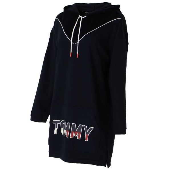 【即納】トミー ヒルフィガー Tommy Hilfiger レディース パーカー トップス フーディー フード VELOUR TRIM PJ HOODIE 410 NAVY BLAZER|fermart