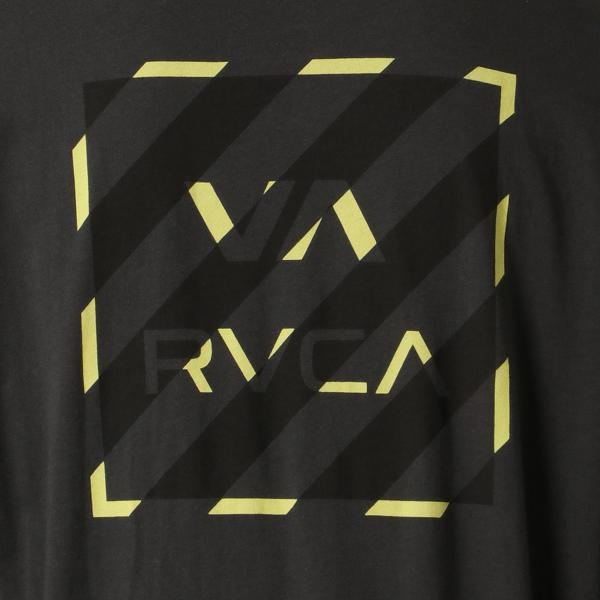 【即納】ルーカ RVCA メンズ 長袖Tシャツ トップス Hazard L/S BLACK ロンT ロングT ロゴ バイアスプリント fermart 04