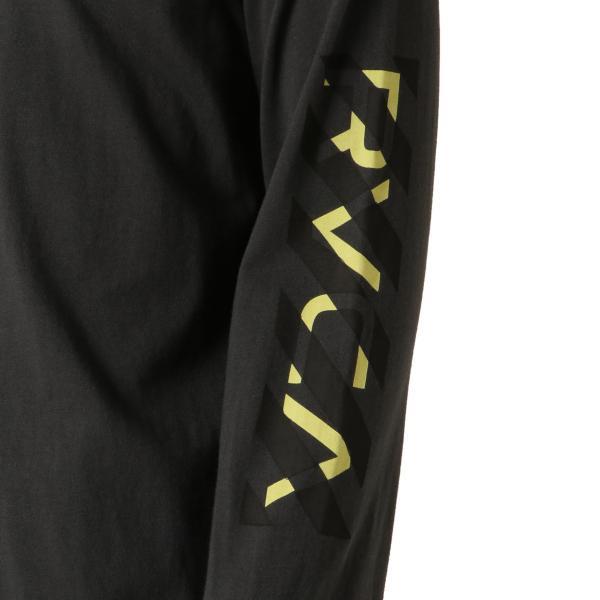 【即納】ルーカ RVCA メンズ 長袖Tシャツ トップス Hazard L/S BLACK ロンT ロングT ロゴ バイアスプリント fermart 06