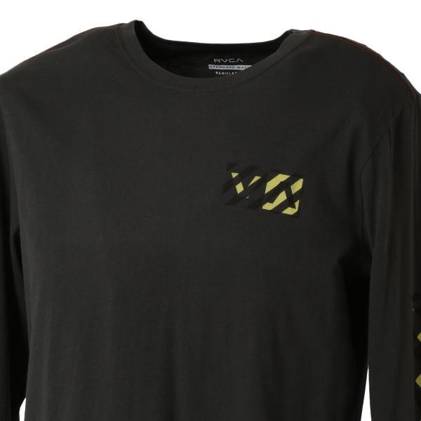 【即納】ルーカ RVCA メンズ 長袖Tシャツ トップス Hazard L/S BLACK ロンT ロングT ロゴ バイアスプリント fermart 07