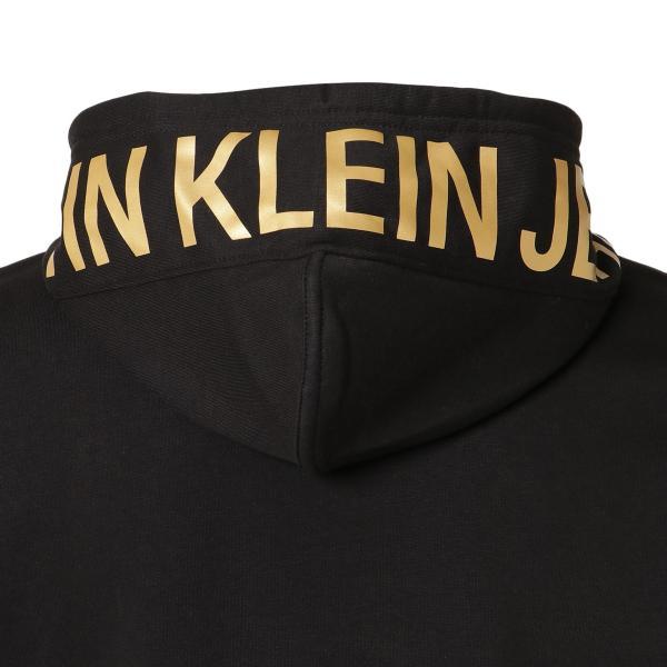 【即納】カルバンクライン Calvin Klein メンズ パーカー トップス NEW ICONIC GRAPHIC HOODIE BLACK フーディー フード|fermart|05