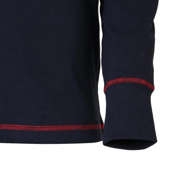 【即納】トミー ヒルフィガー Tommy Hilfiger メンズ パーカー トップス HERITAGE RIB 410 DARK NAVY ロンT ロングT ロングスリーブ ロゴ|fermart|05