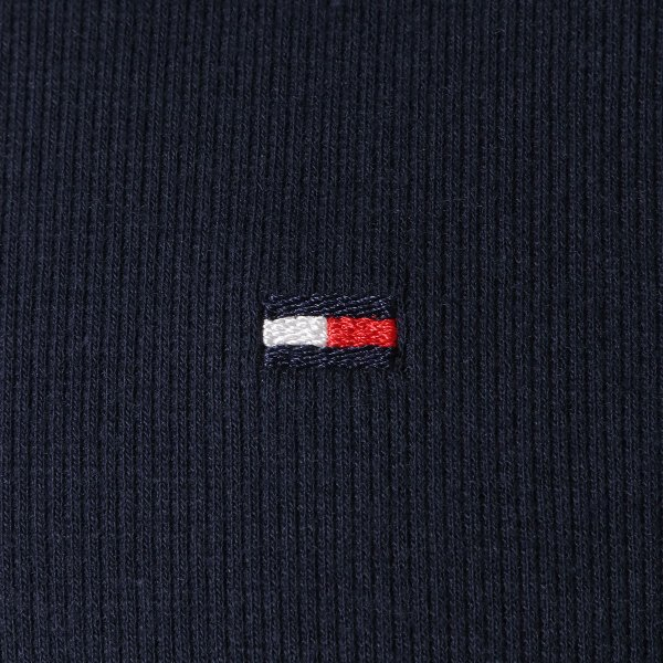 【即納】トミー ヒルフィガー Tommy Hilfiger メンズ パーカー トップス HERITAGE RIB 410 DARK NAVY ロンT ロングT ロングスリーブ ロゴ|fermart|06