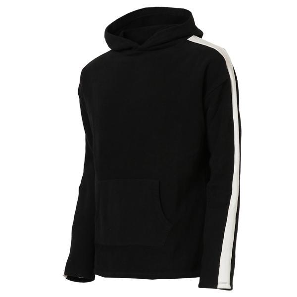 【即納】エンコーデッド ENCODED メンズ パーカー トップス フーディー フード Oversized line hoodie BLACK fermart