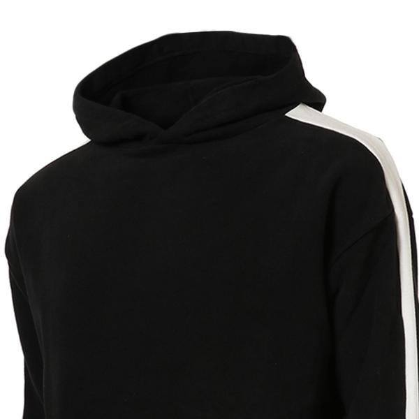 【即納】エンコーデッド ENCODED メンズ パーカー トップス フーディー フード Oversized line hoodie BLACK fermart 03
