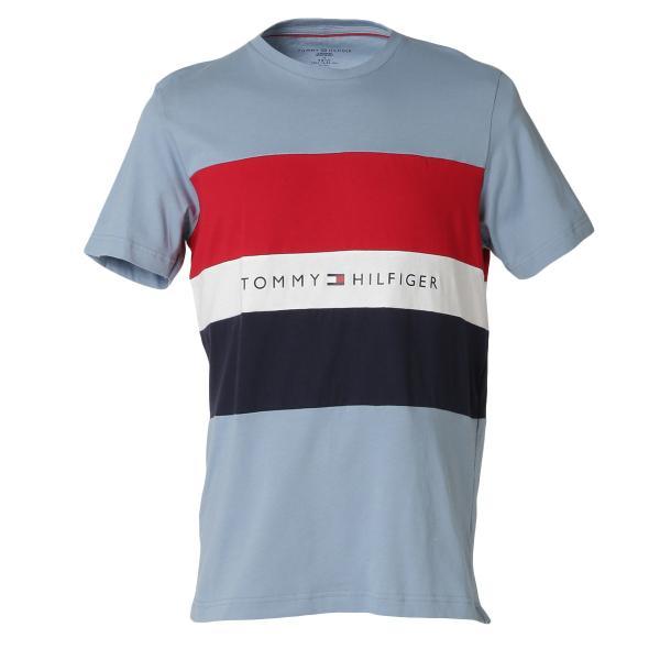 【即納】トミー ヒルフィガー Tommy Hilfiger メンズ Tシャツ トップス S/S CREW TEE DUSTY BLUE ロゴ クルーネック|fermart