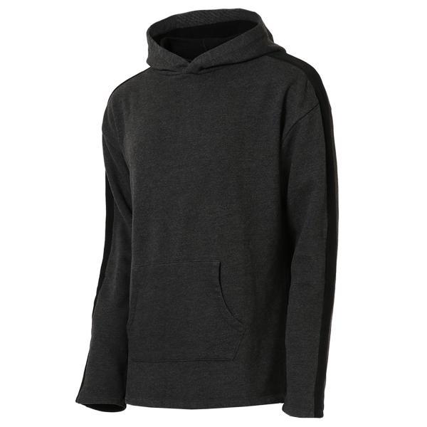 【即納】エンコーデッド ENCODED メンズ パーカー トップス フーディー フード Oversized line hoodie Charcoal GREY|fermart
