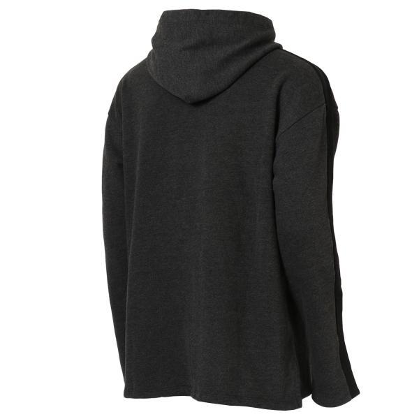 【即納】エンコーデッド ENCODED メンズ パーカー トップス フーディー フード Oversized line hoodie Charcoal GREY|fermart|02